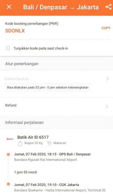 refund tiket batik