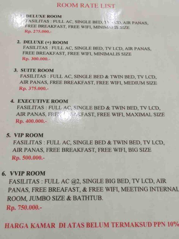 harga hotel di baubau